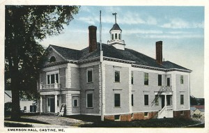 Emerson Hall, Castine, Maine - Circa 1928