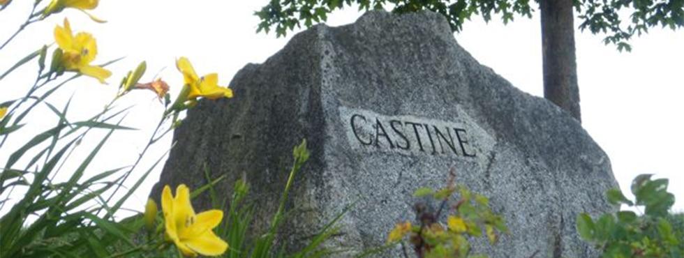 welcome Castine Rock Slide Show size w