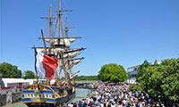 The Castine Historical Society is hosting the frigate replica Hermione to Castine on July 14, 2015 for Bastille Day