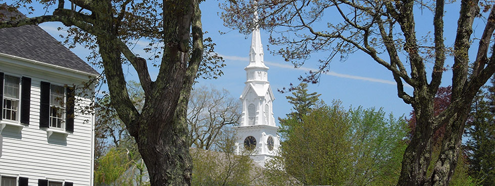 Historic Homes and Churches in Castine Maine